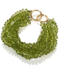 Mara Hotung - 18kt Yellow Gold Peridot Bracelet - Lyst