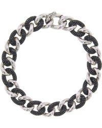 Cosanuova - Essential Black & White Link Bracelet - Lyst