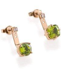 Myriamsos - The Petronas Green Earrings - Lyst