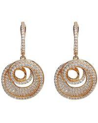 Lustre of London - Rose Spiral Drop Earrings - Lyst