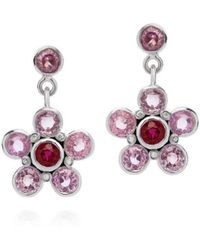 Augustine Jewels - Earrings In Pink Sapphire, Ruby And Diamond - Lyst