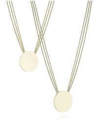 Lani Vincoli L3 - 14kt Solid White Gold Two-Pendant Necklace