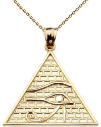 QP Jewellers - Horus Pendant Necklace In 9kt Gold - Lyst