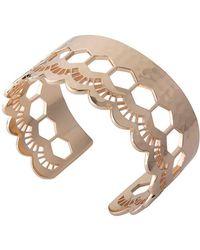 Murkani Jewellery - Lace Rose Gold Edge Cuff - Lyst