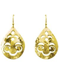 Murkani Jewellery - Tear Drop Small Gold Earrings - Lyst
