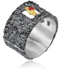 Apostolos Jewellery - The Earth Song 5 Oxidised Silver Ring - Lyst