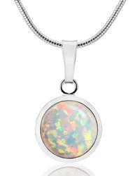 Lavan - Silver Large Opal Pendant - Lyst