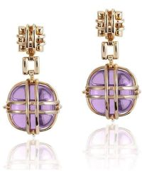 Goshwara - Freedom Amethyst Round Earrings - Lyst