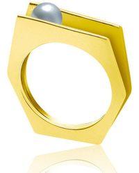 Neola - Alvaro Gold Ring - Lyst