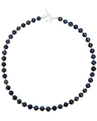 Lily Blanche - Sterling Pearl Necklace - Champagne - Lyst