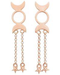 Uma K - Triple Moon Priestess Earrings - Lyst