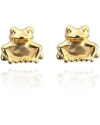 Jana Reinhardt Yellow Gold Plated Frog Stud Earrings Efnik