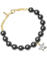 Purnell - Rose Gold And Hematitie Star Bracelet - Lyst