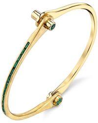 Borgioni - Skinny Baguette Handcuff In Yellow Gold - Lyst