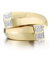 Paolo Costagli New York - Yellow Gold And Diamond Contrarier Brilliant Ring - Lyst