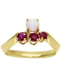 Daou Jewellery - Nucleon Ring - In Opal And Rubies - Lyst