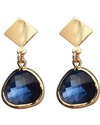 Verve Jewelry - Madrid- Smoky Blue Earrings - Lyst