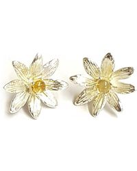 Andrew O Dell Jewellery - Sterling Silver & Citrine Celandine Studs - Lyst