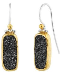 Gurhan - Sterling Silver Mystere Earrings With Rectangular Druzy Quartz - Lyst