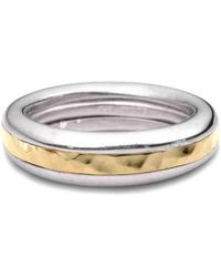 Jeremy Heber Jewellery - Silver & 9kt Yellow Gold Twist Ring - Lyst
