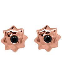 Murkani Jewellery - Rose Gold & Black Spinel Moroccan Star Stud Earrings - Lyst