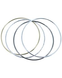 Reeves and Reeves - High Shine Bangle Set - Lyst