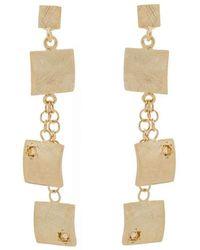 Mishanto London - Veneto Drop Earrings With Garnet - Lyst