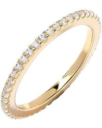 Lustre of London - Yellow Oliva Eternity Ring - Lyst
