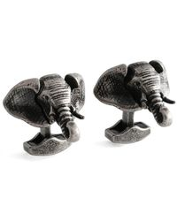 Tateossian - Sterling Silver Mechanical Elephant Cufflinks - Lyst