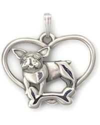 Donna Pizarro Designs Sterling Silver Whimsical Cat, Dog And Mouse Necklace - Playful Trio