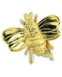 Will Bishop - Gold Vermeil Bumble Bee Brooch - Lyst
