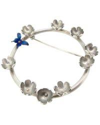 Sian Bostwick Jewellery - Butterfly & Daisy Circlet Brooch - Lyst