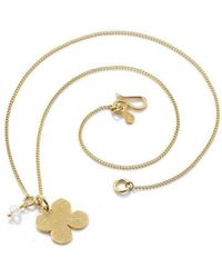 Vicky Davies - Sterling Silver & 18kt Gold Four Leaf Clover Pendant Necklace - Lyst