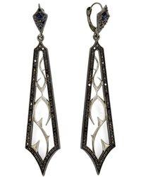 Enamorata - Black Diamond Fortitude Earrings - Lyst