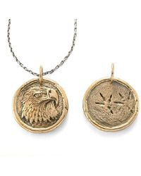 House of Alaia - Power Eagle Traveller's Coin Necklace Bronze - Lyst