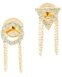 Eshvi - August Peridot Earrings - Lyst