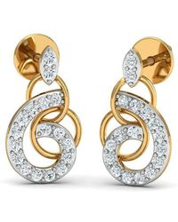 Diamoire Jewels - Nature Inspired 18kt Yellow Gold And Diamond Luxe Pave Earrings - Lyst