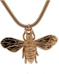 Will Bishop - Rose Gold Vermeil Honey Bee Necklace - Lyst