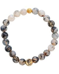 Lucy and Penny - Healing Crackle Agate Bangle - Lyst