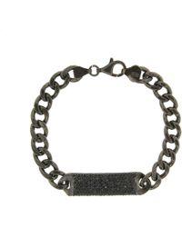 Cosanuova - Essential All Black Id Bracelet - Lyst