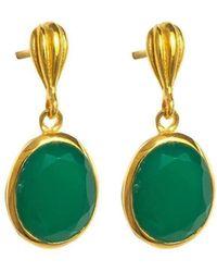 Juvi Designs - Baja Gold Vermeil Earring With Green Onyx - Lyst