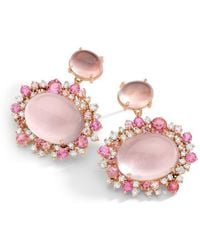 Brumani Double Baobab Bubbles Earring in Rose Gold
