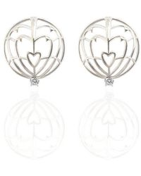 Jane North - Everlasting Love Spike Earrings In Sterling Silver - Lyst