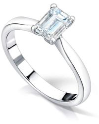 Clearwater Diamonds - Emerald Cut Solitaire Engagement Ring - Lyst