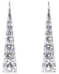 Daou Jewellery 18kt White Gold & Diamond Spark Earrings lvGQvHOwrQ