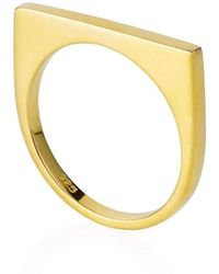 Neola Minerva Bar Ring Gold - UK P - US 7 1/2 - EU 56 1/2 VtTDNgY