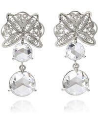 AMMA Jewelry - 18kt Gold Filigree Earrings With Rose Cut Amsterdam Diamonds - Lyst