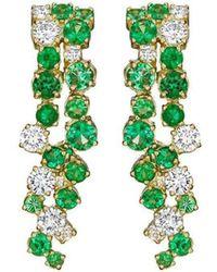 Madstone Design - Melting Ice Emerald Drop Earrings - Lyst