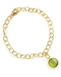Syna 18kt Peridot Charm Bracelet l6sAK