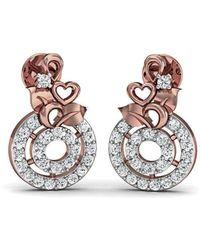 Diamoire Jewels - Floweret 18kt Rose Gold Diamond Stud Earrings - Lyst